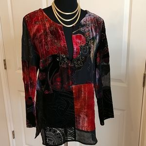 Stunning Chico's Burnout Tunic